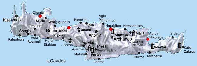 Kaart Kreta Map En Landkaart Voor Uw Vakantie